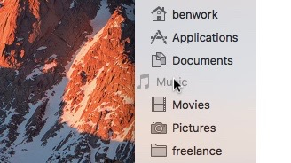 Clean out Mac Finder sidebar
