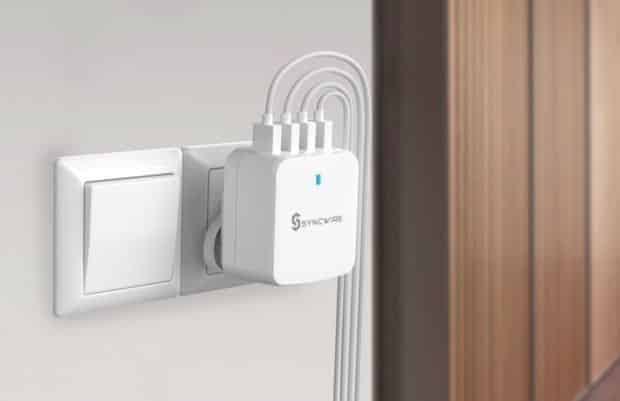 Going on a trip? Make sure to pack this 4-port USB wall charger