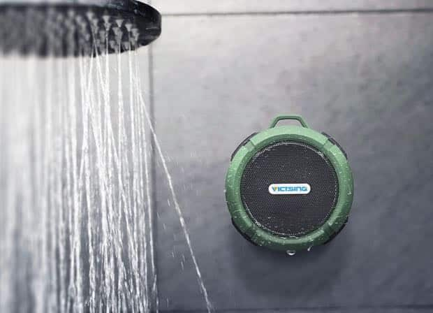 This bluetooth shower speaker is just $19 and will let you listen to your favorite tracks