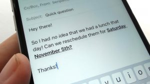 iOS Mail tip bold italics and underline words