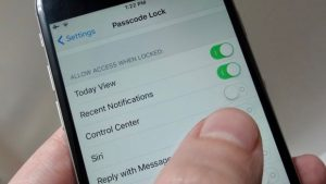 iOS 11 Control Center hide on lock screen