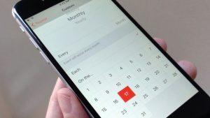 iOS Calendar repeating events